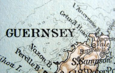Vintage map of Guernsey