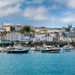 View of St Peter Port Guernsey